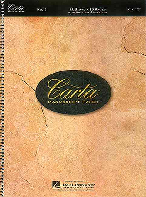 Carta Manuscript Paper By Hal Leonard Publishing Corporation (CRT)